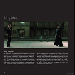 Black page with still from the Matrix