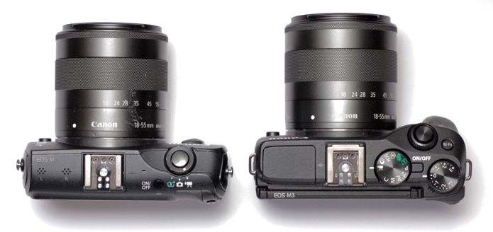 EOS M and EOS M3 compared