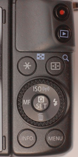 EOS M3 rear controls