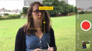 iPhone camera screen filmmaking