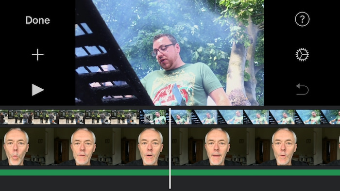 iOS iMovie screenshot