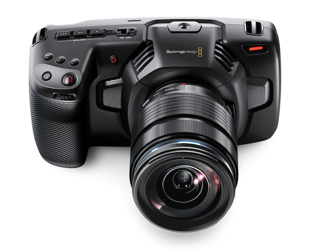 Top view of BlackMagic Cinema Camera 4K